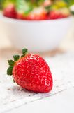 One berry strawberry close-up Stock Image