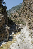 Samaria Gorge. One of the best sights on Krete Royalty Free Stock Images