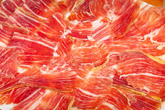 Spanish jamon iberico sliced Royalty Free Stock Image