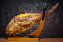 Full leg of Spanish jamon iberico Stock Photos