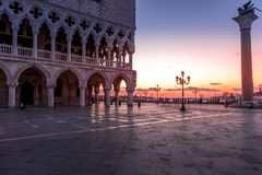 San Marco Square in Venice Italy royalty free stock photo