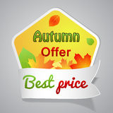 One big autumn sale label Stock Image