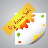 One big autumn sale label Stock Images