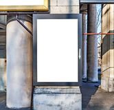 One big blank billboard attached to a building concrete wall Royalty Free Stock Images