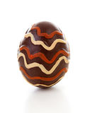 One big brown decoraded easter egg Royalty Free Stock Images