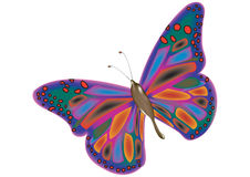 One big butterfly. One big beautiful fluttering butterfly Stock Images