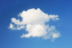 One big cloud and blue clear sky. Royalty Free Stock Photography