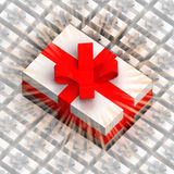 One big gift box over others with flare Royalty Free Stock Photography