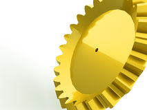 One big gold gear Stock Image