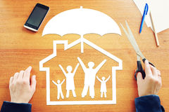 One big happy family in safety Stock Images