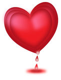 One big heart bleeding in valentine day Royalty Free Stock Photography
