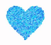 One big heart from many small hearts. On white background Stock Photography