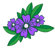One big lilac flower with leaf isolated on the white background Royalty Free Stock Photography
