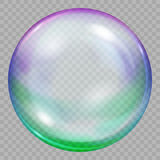 One big multicolored transparent soap bubble Stock Photography