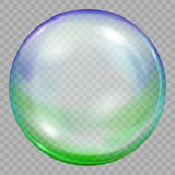 One big multicolored transparent soap bubble royalty free illustration