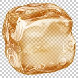 Transparent ice cube Royalty Free Stock Images