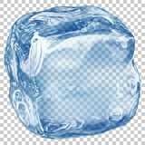 Transparent ice cube Royalty Free Stock Photography