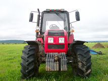 One big red tractor Royalty Free Stock Photography