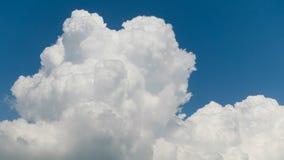 One big thunder cloud rising over horizon. One big thunder cloud over horizon stock photography