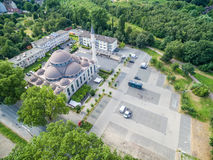 One of the biggest mosques in Germany under the sun Royalty Free Stock Photos