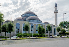 One of the biggest mosques in Germany under the sun Stock Photography