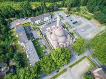 One of the biggest mosques in Germany under the sun Royalty Free Stock Images