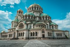 Alexander Nevsky Cathedral, Sofia, Bulgaria stock photography