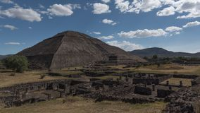 Pyramid of Sun in Teotihuacan, Mexico royalty free stock photo