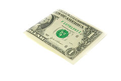 One bill of one US dollar Royalty Free Stock Photos