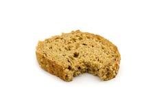 One bite of bread Stock Photos