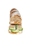 One bite sandwich Stock Images