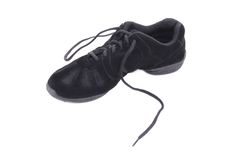 One black leather dance shoe. Stock Image