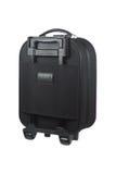 one black luggage isolated on white Stock Photos