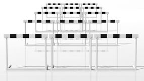 One black and white hurdle Royalty Free Stock Images