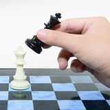 One black win white chess Royalty Free Stock Photography