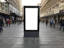 One blank billboard in Belgrade royalty free stock images