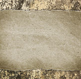One blank frame on concrete wall. One blank frame on concrete wall backgrounds Royalty Free Stock Photography