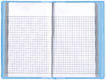 One blank notepad organizer, empty spreadsheet, Stock Photography