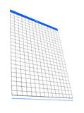 One blank notepad organizer, empty spreadsheet, Royalty Free Stock Photography