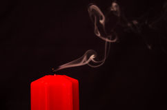 One blown out candle Stock Image