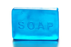 One Blue Bar of Soap Royalty Free Stock Photography