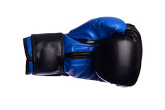One blue boxing mitts on a white background Royalty Free Stock Photography