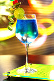 One blue cocktail martini Stock Image