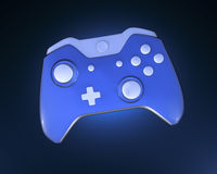 One Blue Game Controller Stock Image