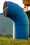 One  blue ventilation chimneys steel. Close up of a ventilation chimney blue Royalty Free Stock Photography