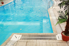 One blue water swimming pool Stock Photos