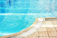 One blue water swimming pool Royalty Free Stock Photo