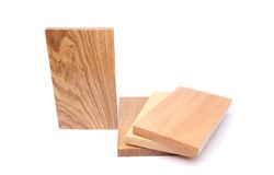 One board (acacia) and three boards Stock Photo
