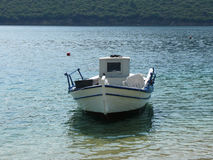 One boat. On a calm water royalty free stock photos
