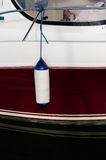One boat fender to protect the boat Stock Photography